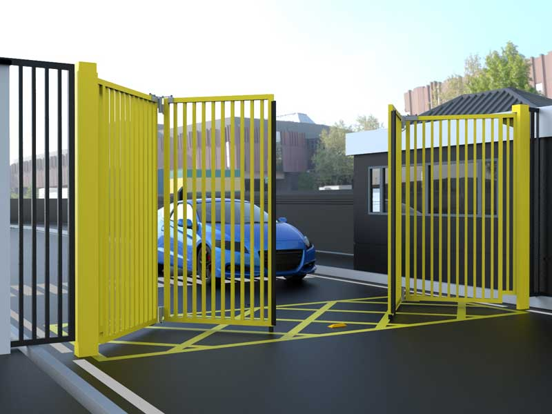 CG9500 Bi Folding Double Gates Yellow