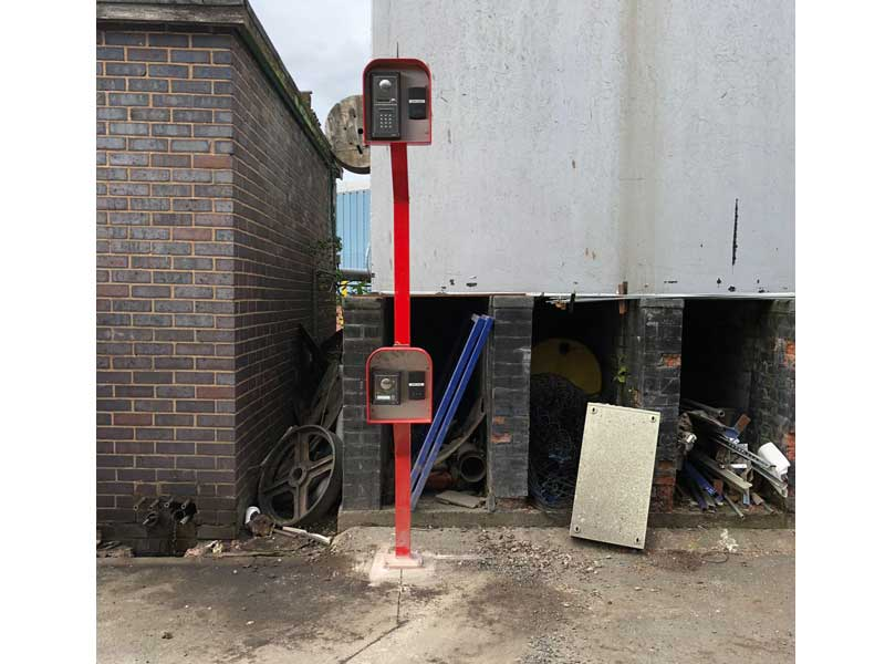 Dual Height Intercom Post