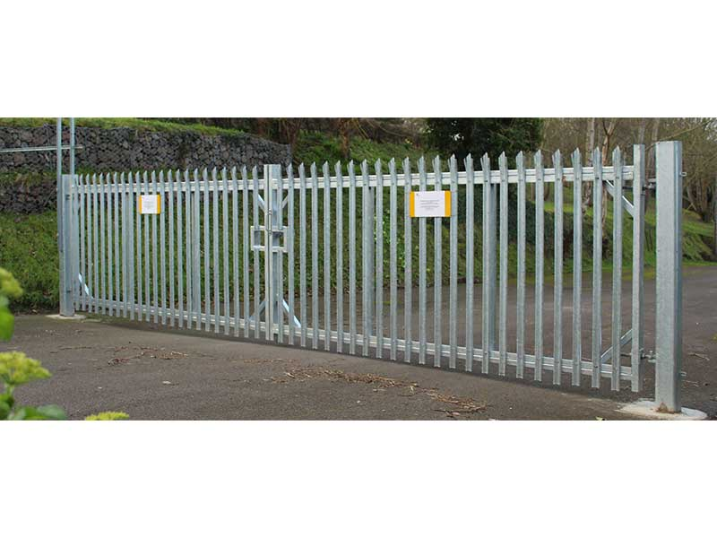 Manual Double Swing Gates Palisade Infill