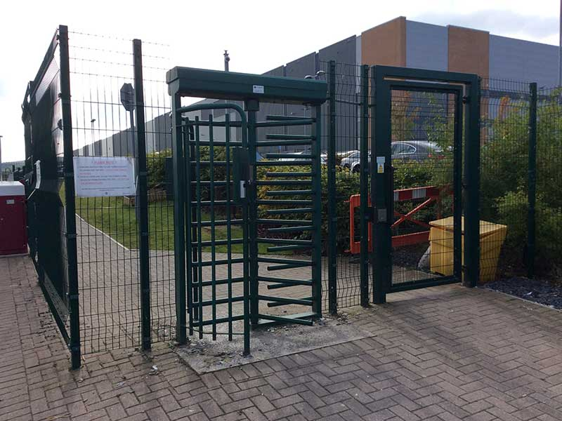 Pedestrian Gate fitted with CG4000FH Turnstile