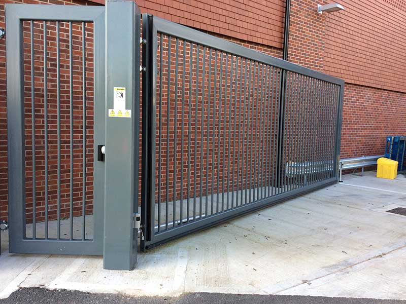 Pedestrian Gate with Bar Infill
