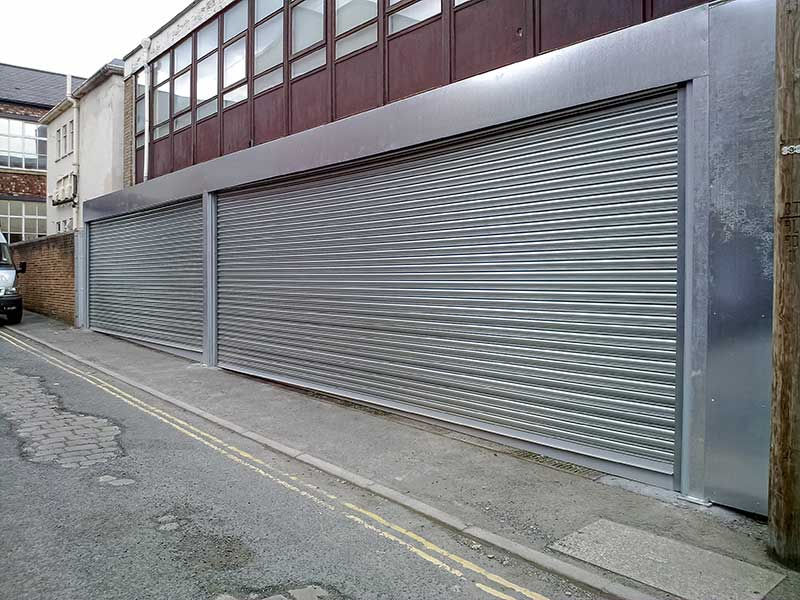 Galvanised steel roller shutters