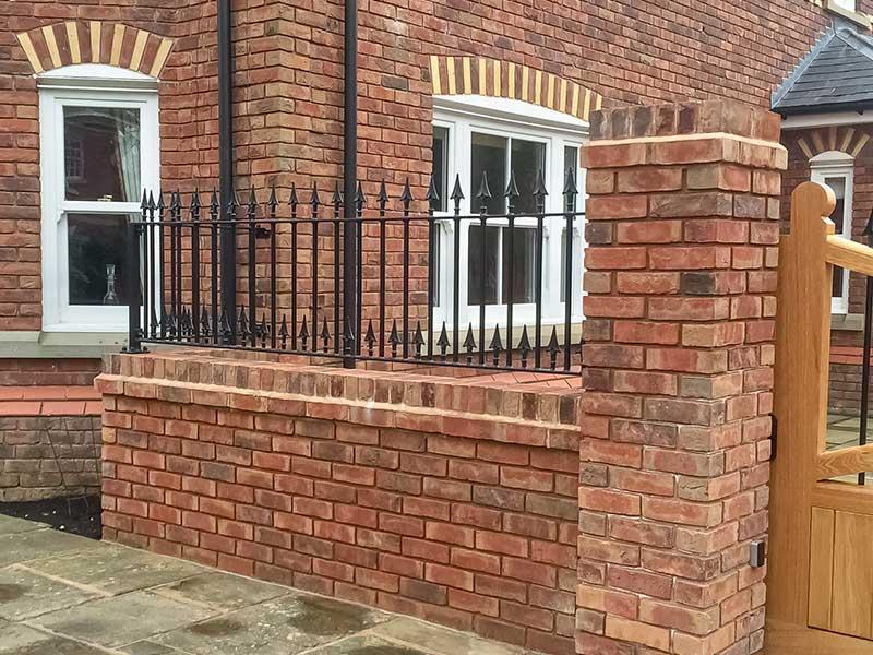 Wall Top Railings Double Finial