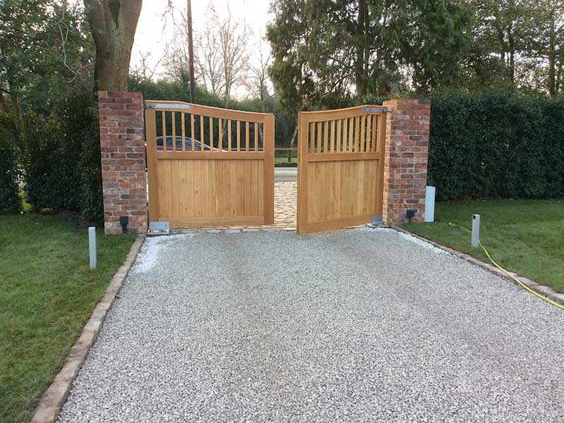 Wooden Gates - Part Open