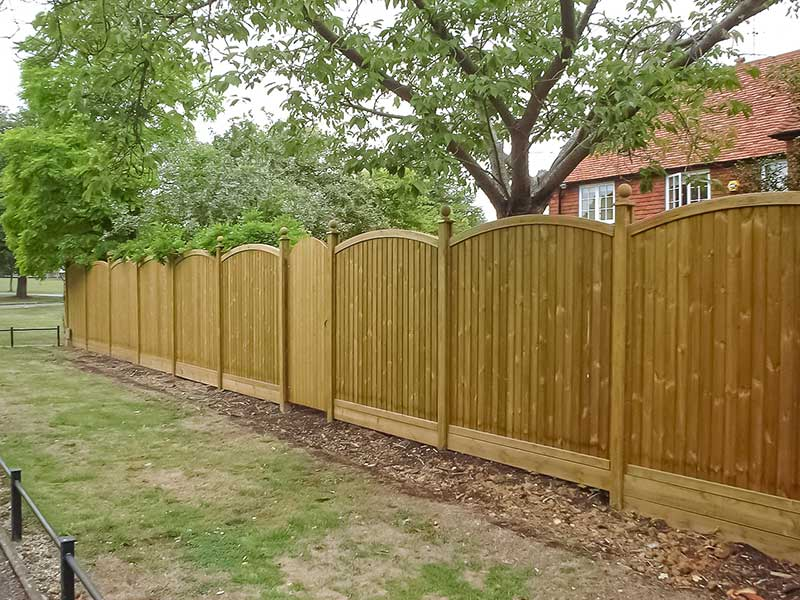 Wooden fencing