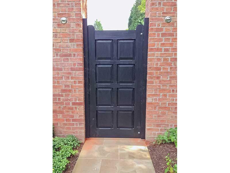 Wooden Gates - Black Side Gate