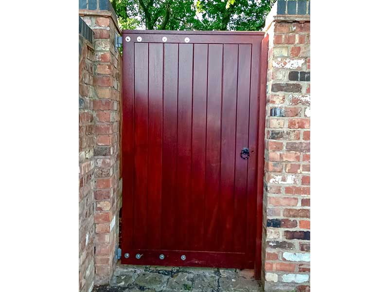 Wooden Gates - Red Wood Side Gate