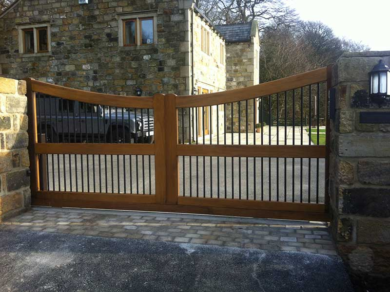 Wooden Gates - Timber and Wrought Iron