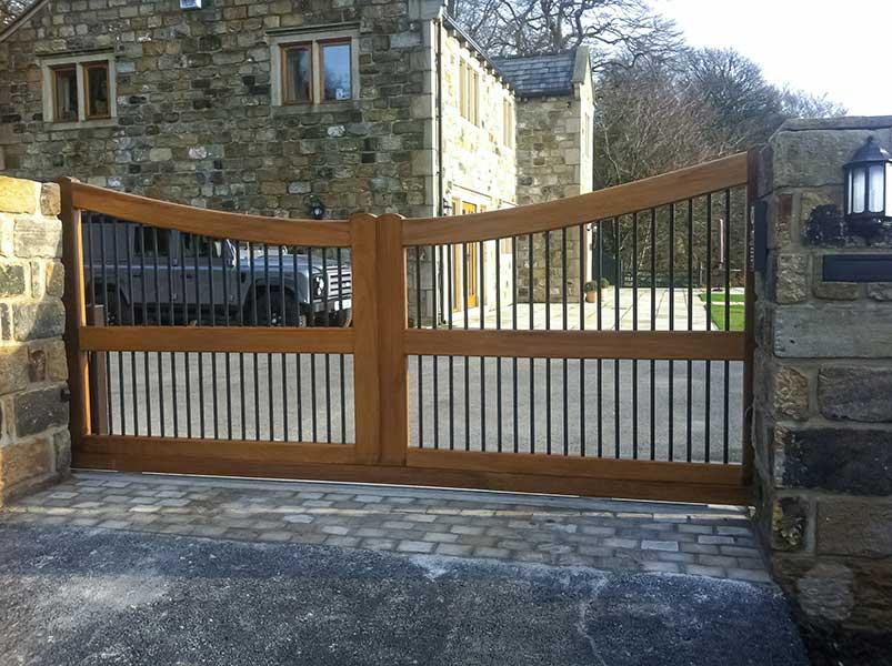 Wrought iron gates Wood and Wrought Iron