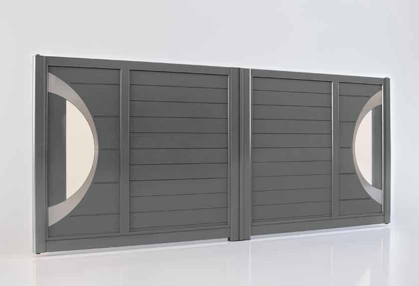 Horizal Akordia Collection - Atlantide M2 Aluminium Swing Gate