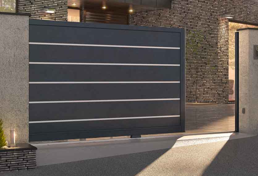 Horizal Anodised Collection - Kantum Aluminium Sliding Gate