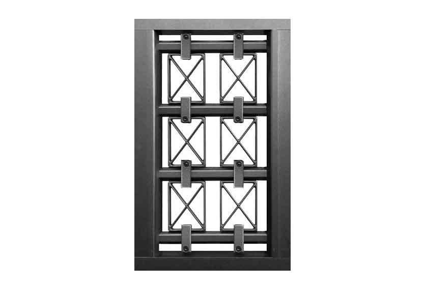 Horizal Confidence Collection - Decorative Panels with Crosses Design - Aluminium Gates