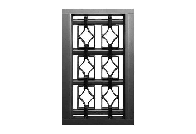 Horizal Confidence Collection - Decorative Panels with Diamond Design - Aluminium Gates