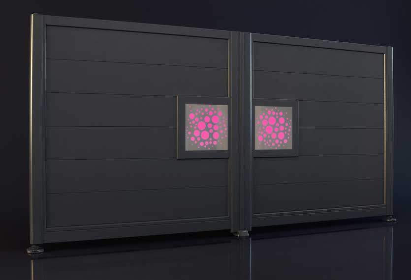 Horizal Night and Day Collection - Bubbles Design Aluminium Gates