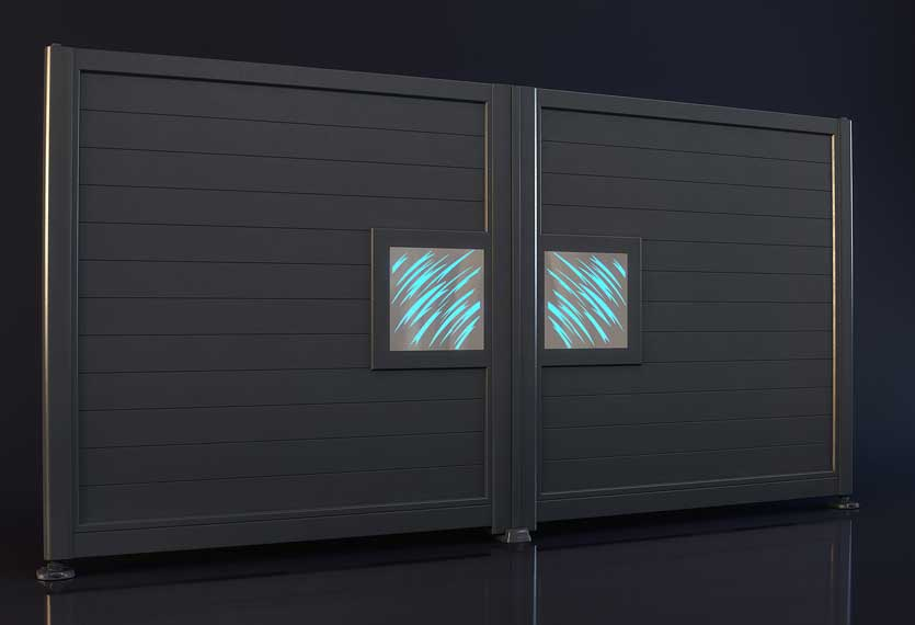 Horizal Night and Day Collection - Claws Design Aluminium Gates