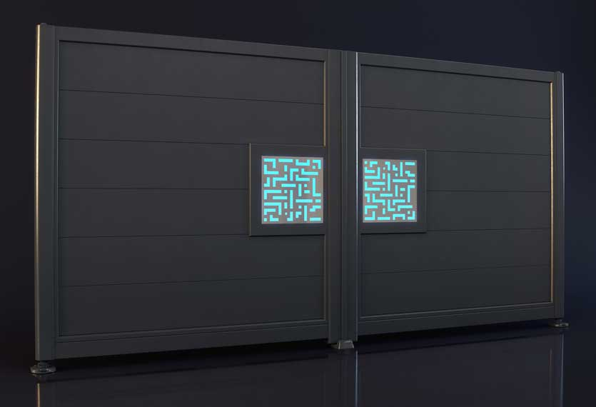Horizal Night and Day Collection - Labrynth Design Aluminium Gates