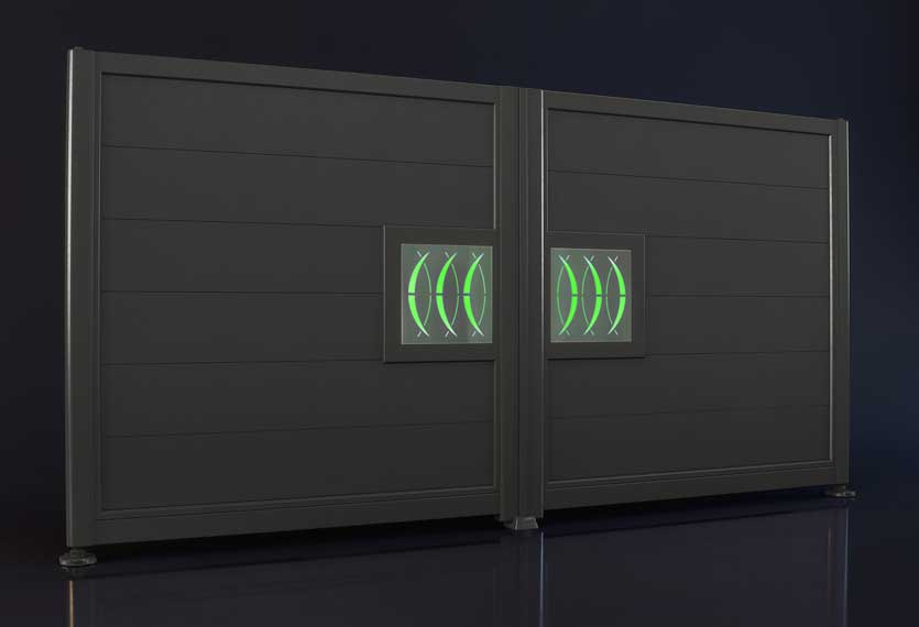 Horizal Night and Day Collection - Moon Design Aluminium Gates