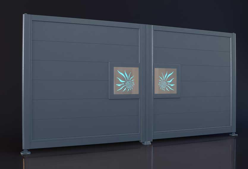 Horizal Night and Day Collection - Sun Design Aluminium Gates