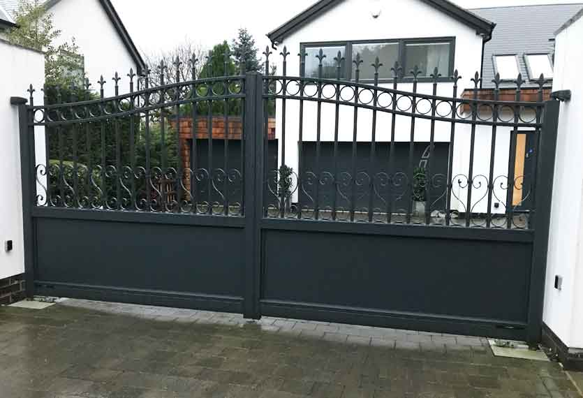 Horizal Traditional Collection - Montia Swing Gates Anthracite